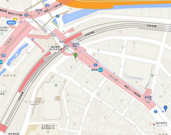 飯田橋距離